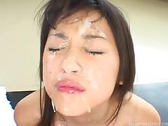 lovely asian brunette sucking dicks