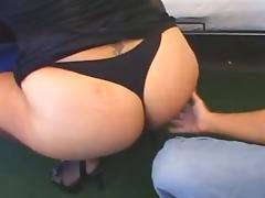 Fat Latina Pounds Her Snatch Raw