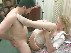 Granny Orgy, Anal, Assfucking, Banging, Creampie, Gangbang