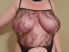 38HH tits sex slave whore Lateshay strip