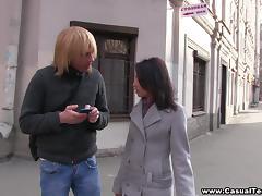 Foot massage and slurping fuck tube porn video