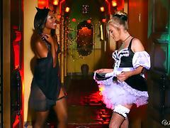 Black Lesbian, Fishnet, Lesbian, Lick, Pussy, Stockings