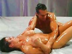 Oil wrestling tube porn video