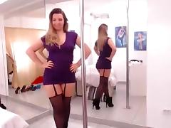 Italian Amateur, Masturbation, Solo, Stockings, Strip, Webcam