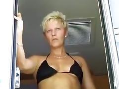 Bikini, Aged, Bikini, Blonde, Granny, Hardcore