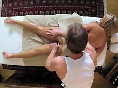Poor customers copulated and fucked on massage table