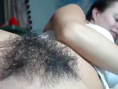 Webcam, Hairy, Masturbation, Solo, Toys, Webcam