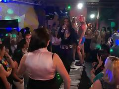 Amateur girls stripping and dancing at a night club