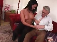 cute brunette loved by sex careful daddy tube porn video