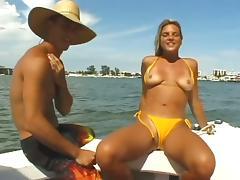 Bikini, Babe, Bikini, Blowjob, Boat, Couple