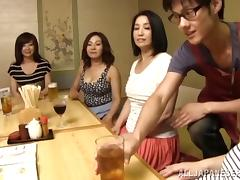 Bar, Asian, Banging, Bar, Gangbang, Group