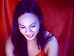 Webcam ladyboy jerks off and cums porn tube video