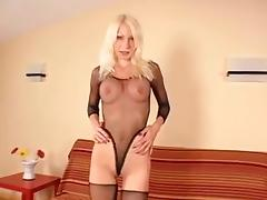 Pretty blonde gets her holes ruined