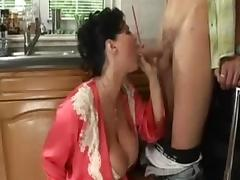 Big titted housewife takes a younger cock tube porn video