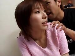 Asian MILF shows off her blowjob skills then gets fucked porn tube video