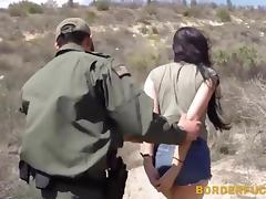 Hot latina Kimberly Gates gets pussy pounded by patrol man