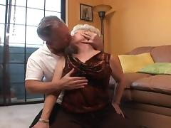 Grandpa gets horny and fucks granny in her shaved pussy tube porn video