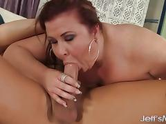 BBW sucking hard cock