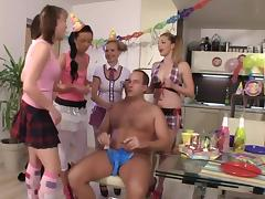 Birthday, Birthday, Gangbang, Teen