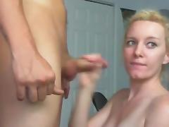 Hot Blonde Deep Throats, Fucks and Takes A Cum Shot porn tube video