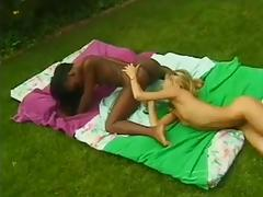 Ebony and Ivory eat each other out porn tube video