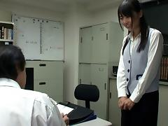 Japanese secretary eaten out by her eager boss at work porn tube video