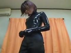 Japanese Latex Catsuit 19 tube porn video