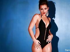 Sexy Dani Daniels stripping tube porn video
