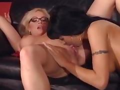 Lesbian Stripper Gives Private Dance