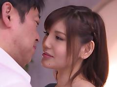 Alluring Japanese girls likes her armpits licked and cum on her face tube porn video