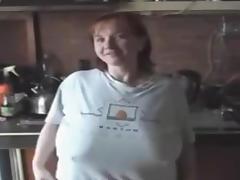 Redhead BBW Showing Boobs