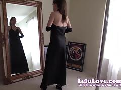 Lelu Love-Gown Stockings Heels Gloves Mirror Striptease porn tube video