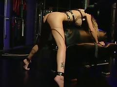 Slut with pretty pussy spanked and teased