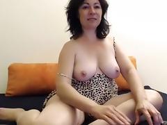 Webcam, Big Tits, Brunette, Masturbation, Mature, Solo