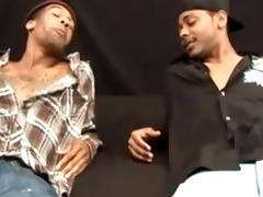 Nasty black gay is making love with his black lover tube porn video