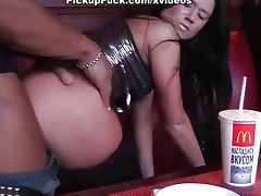 Nasty brunette fucks in