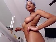 Ebony, Big Tits, Black, Ebony, Hairy, Masturbation
