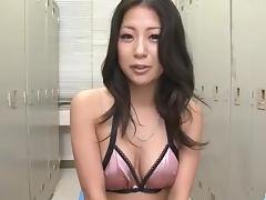Rough toy play with curvy lingerie modelSatomi Suzuki
