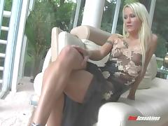 Blonde babe loves getting a hard cock in the pussy and ass