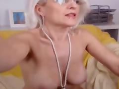 Blonde French Cougar Webcam Show