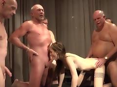 Teen is getting laid with lots of old men porn tube video