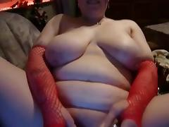 Slut Fat BBW gf playing on the couch and sucking cock porn tube video