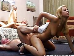 Two old men screwing young hot girls porn tube video