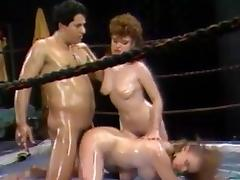 Oiled Catfight Training porn tube video