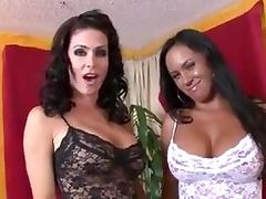 Two Babes Double Team a Cock