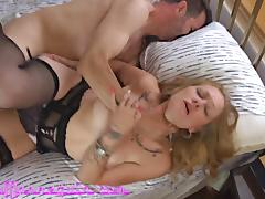 Stunning Blonde MILF In Lingerie Cums Hard Fucking Huge Cock tube porn video