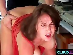 Couple getting busy near the computer porn tube video