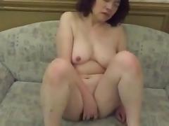Horny Japanese milf  Kui Somya masturbating agonorgasmos