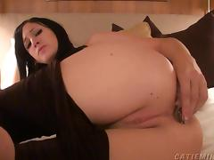 Amazing solo webcam babe using a bunny butt plug on her tight asshole tube porn video