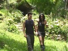 Walking in the woods porn tube video